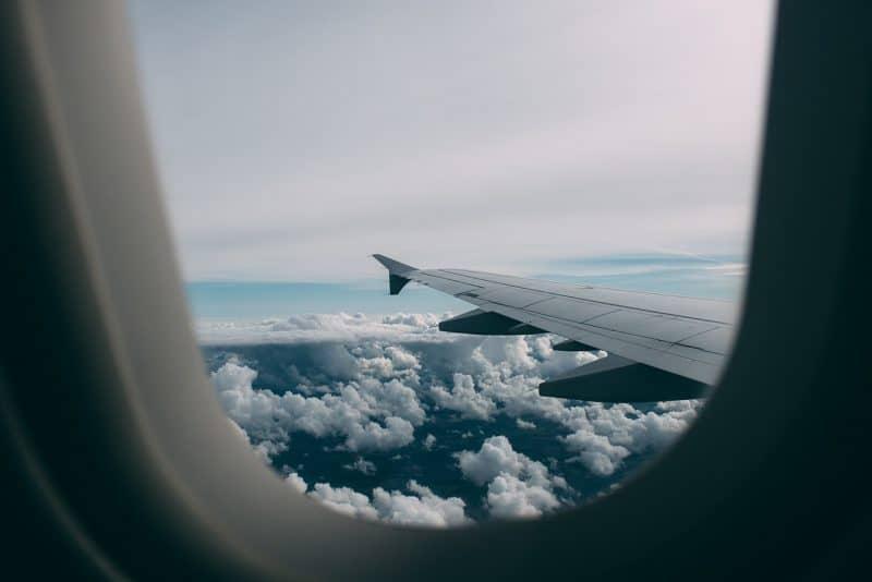 מבט מחלון ממטוס