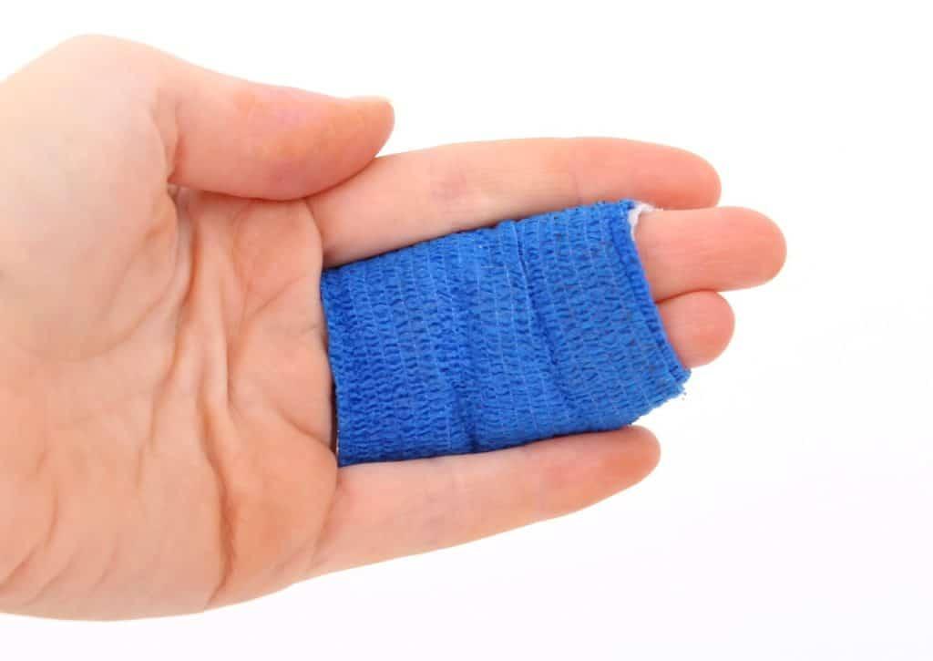 אצבע חבושה