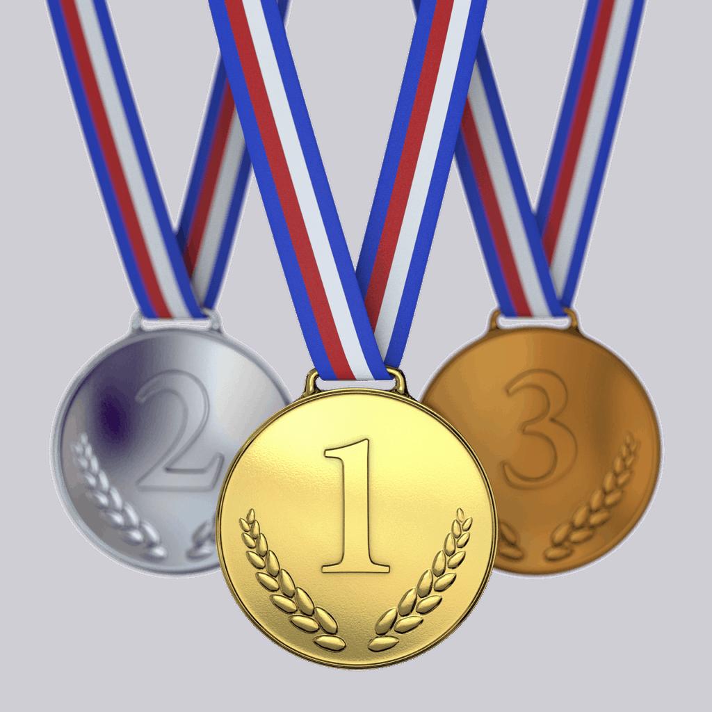 מדליות: ארד כסף וזהב